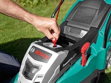 Bosch DIY Akku-Rasenmäher Rotak 430 LI, 2 Akku, Ladegerät, 50 l Grasfangkorb, Karton (36 V, 2,0 Ah, 43 cm Schnittbreite, 20-70 mm Schnitthöhe) -
