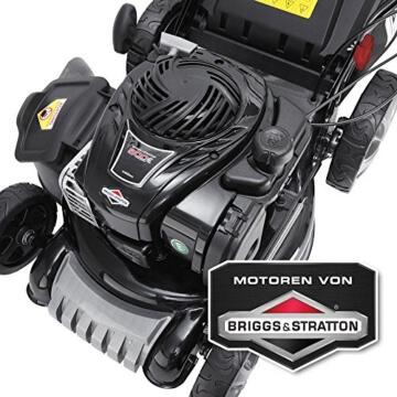 BRAST 4 in 1 BENZIN Rasenmäher Briggs & Stratton Motor Selbstantrieb Motormäher B&S BS -