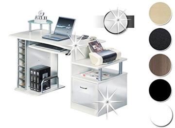 Schreibtisch weiß hochglanz