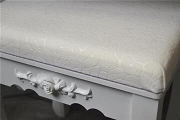 Livitat SP862 Schminktisch, MDF, weiß, 40 x 76 x 148 cm -