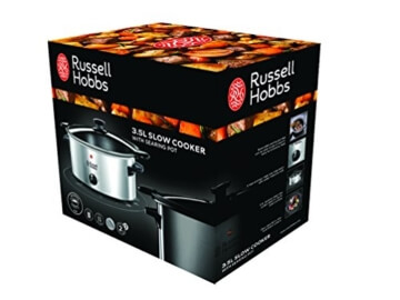 Russell Hobbs 22740-56 Cook at Home Schongarer, 3 wählbare Temperatureinstellungen, 3,5 L -