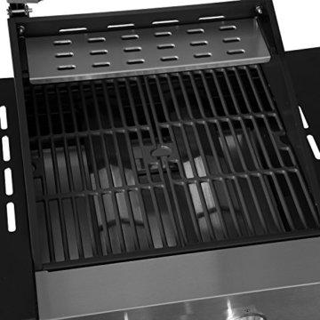 Edelstahl Gasgrill Barney von Grillsome! BBQ Grillwagen mit klappbaren Seitenteilen, Edelstahl-Gehäuse und Gusseisen-Grillrost inkl. Thermometer -